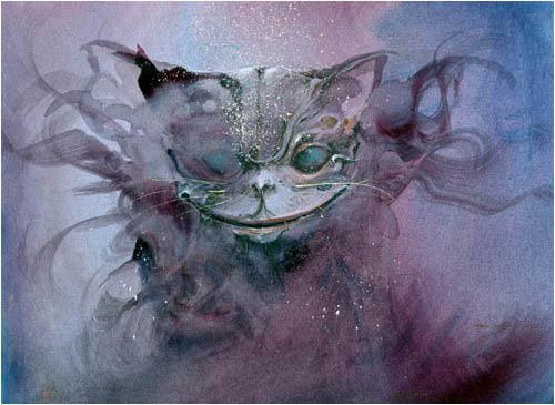 Чеширский кот - таким его видел великий Сальвадор Дали