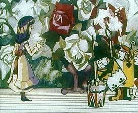 """Кадр из мультфильма """"Алиса в стране чудес"""" (1981). Режиссер Ефрем Пружанский"""