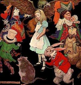 """Иллюстрация к рассказу """"Алиса в стране чудес"""""""