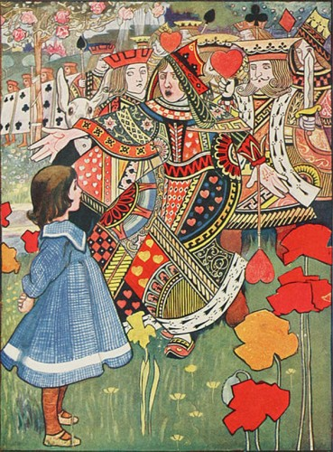 Алиса, Червонный Король и Королева, 1907 год.