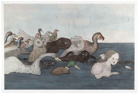 """Кики Смит. """"Море слез 2"""" (После Льюиса Кэррола). Инталия, ручная раскраска, 2000 год."""