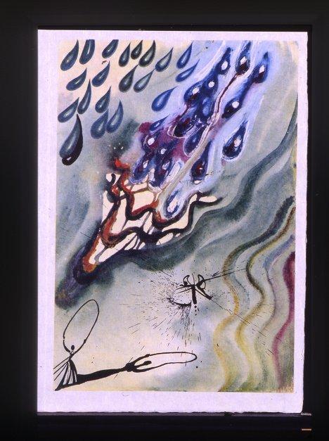 """Сальвадор Дали. Иллюстрация к книге Льюиса Кэррола """"Алиса в Стране Чудес"""". 1969 год"""