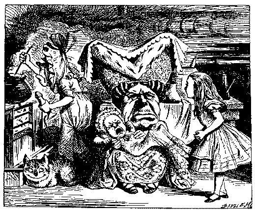 Классическими иллюстрациями считаются рисунки Джона Тенниела