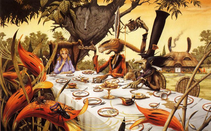 Алиса, Кролик и Валет зовут на чай и на обед