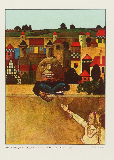 """Питер Блейк """"Можешь пожать мне руку - я не гордый!"""" - иллюстрация к книге Льюиса Кэррола """"Алиса в Зазеркалье"""""""