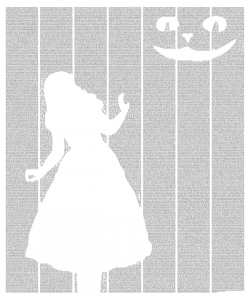 Alice in Wonderland. Текстовый плакат