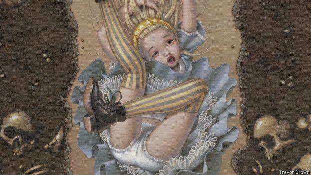 На иллюстрациях Тревора Брауна 2009 года образ Алисы явно сексуализирован, хотя цветовое решение ее наряда достаточно традиционно