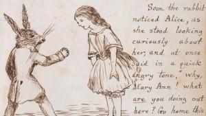 Алиса и Белый Кролик. Иллюстрация Льюиса Кэрролла